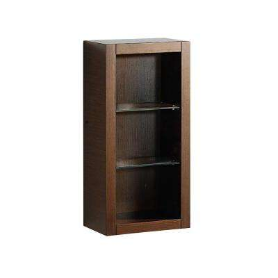 Allier 16 in. W x 32 in. H x 10 in. D Bathroom Linen Storage Cabinet in Wenge Brown