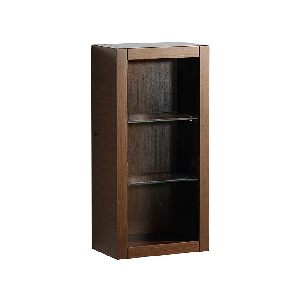 Allier 16 in. W x 32 in. H x 10 in. D Bathroom Linen Storage Cabinet in Wenge Brown