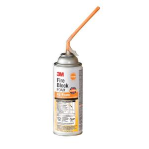 3M 12 fl. oz. Orange Fire Block Foam Aerosol Can (Case of 6) by 3M