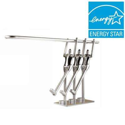 Teamwork to Max 15 in. Artistic Silver LED Desk/Table Lamp