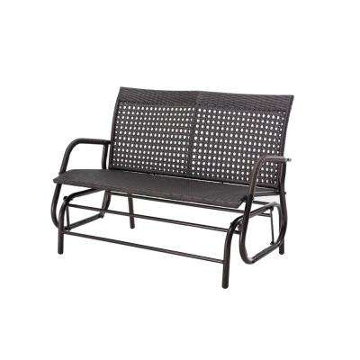 Steel Dark Brown Patio Glider