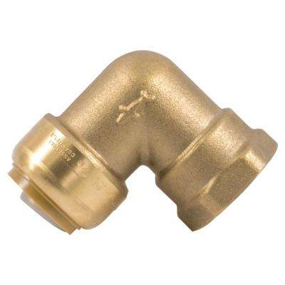 3/4 in. Brass 90-Degree Push-to-Connect x Female Pipe Thread Elbow