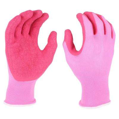 Women's Large Latex Crinkle Dipped Gloves