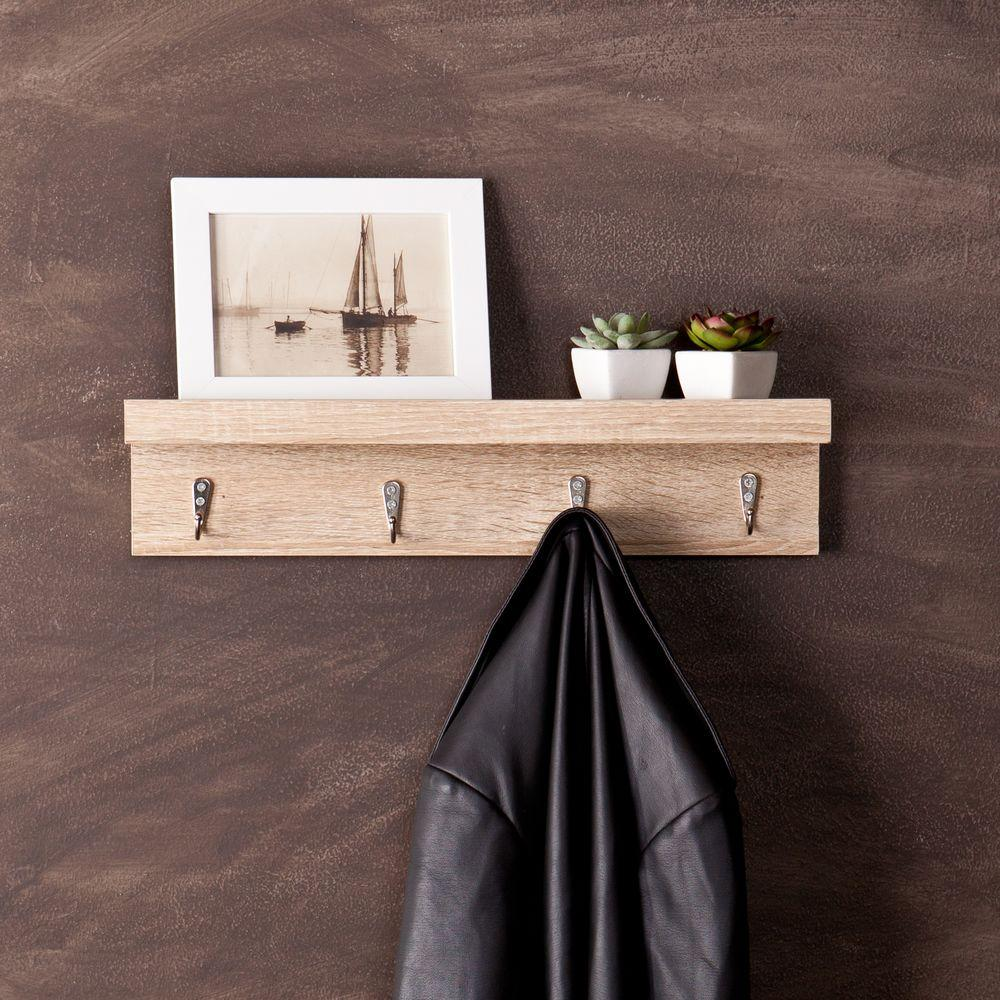 Coat Rack Wall Entryway Small Spaces Hooks