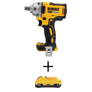 20-Volt MAX XR Li-Ion Brushless Cordless 1/2 in. Impact Wrenchw/Detent Pin Anvil (Tool-Only)w/20-Volt 3.0 Ah Battery
