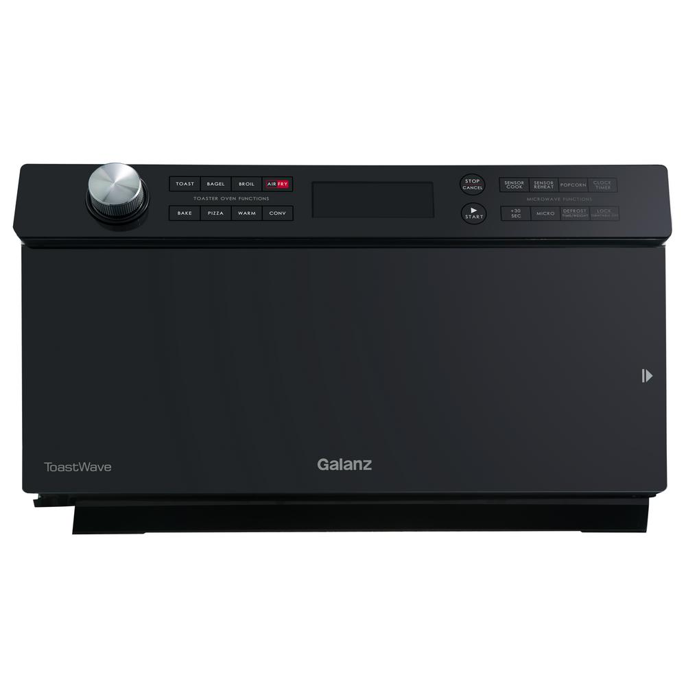 Galanz 1.2 cu. ft. Countertop ToastWave 4-in-1 Convection Oven, Air Fry, Toaster Oven, Microwave in Black