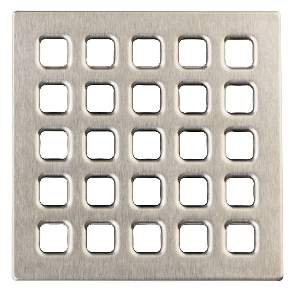DUROCK 4 in. Brushed Nickel Professional Grate Kit Assembly