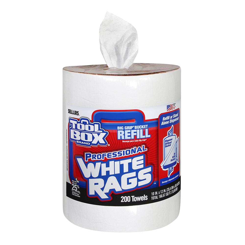 200-Count Professional White Rags Refill