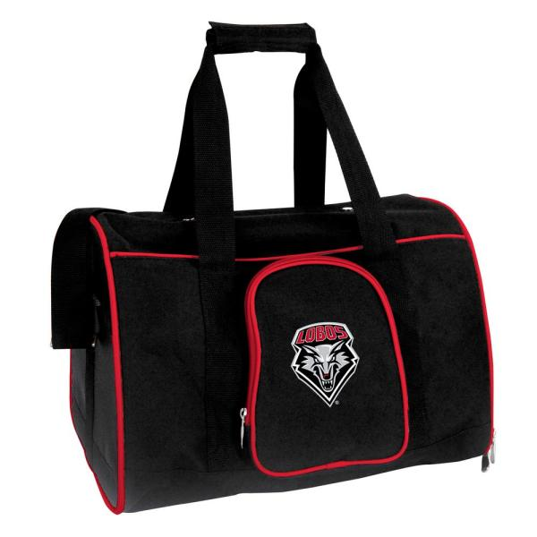 Denco NCAA New Mexico Lobos Pet Carrier Premium 16 in. Bag in Red