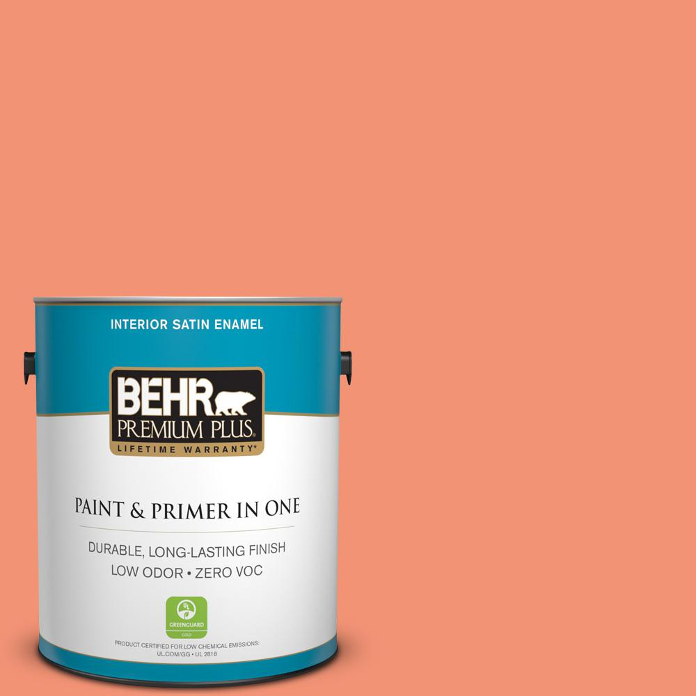 1-gal. #200B-5 Indian Dance Zero VOC Satin Enamel Interior Paint
