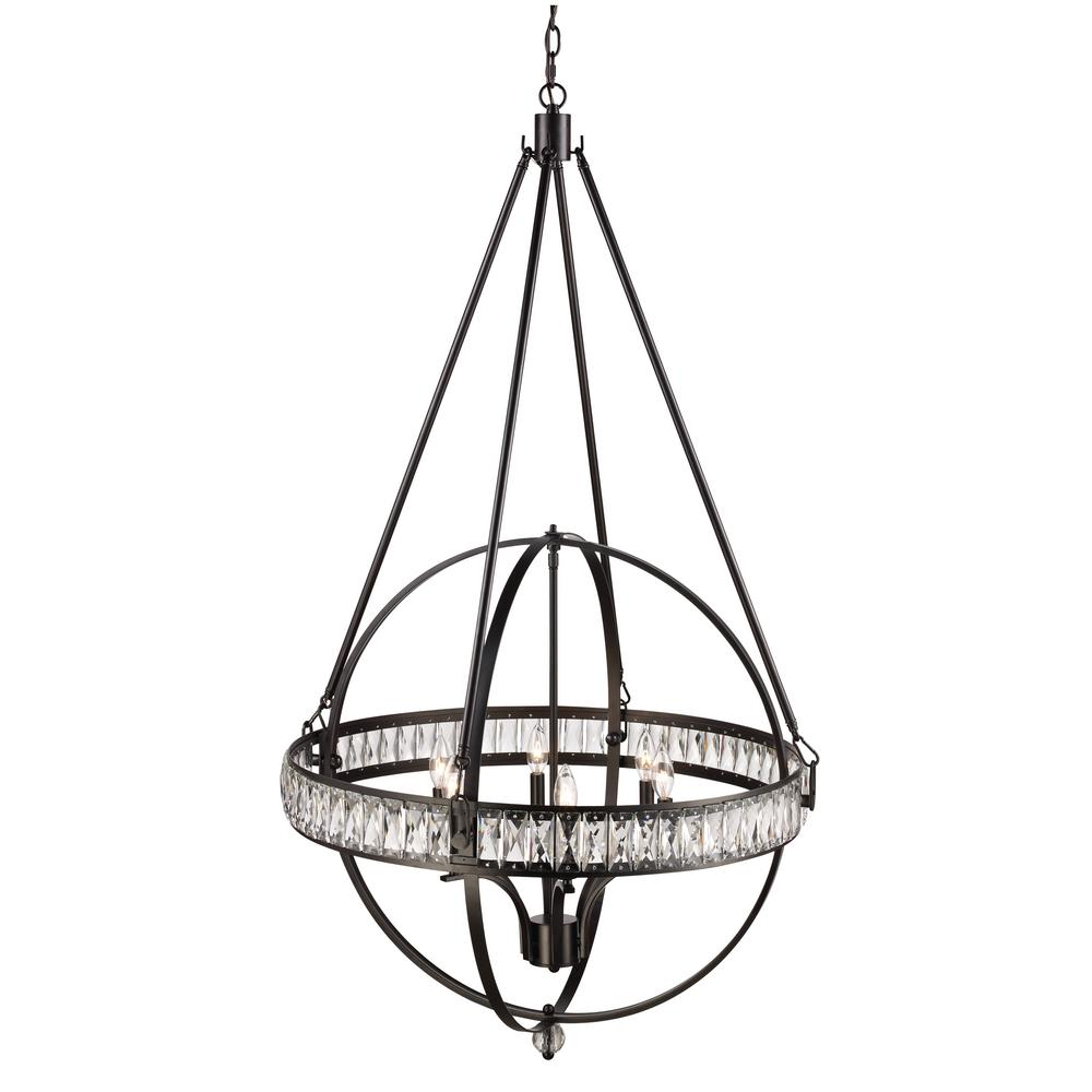 Bel Air Lighting Elan 6 Light Rubbed Oil Bronze Pendant
