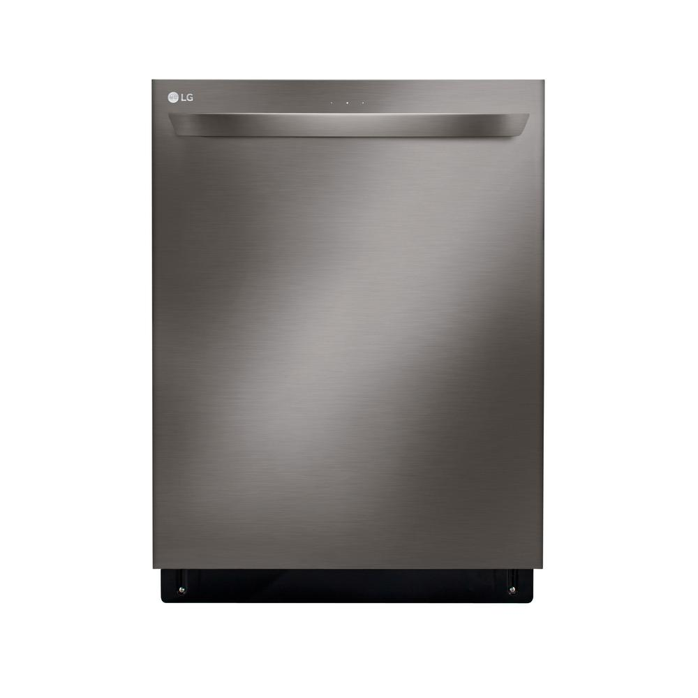 LG Electronics Top Control Tall Tub Smart Dishwasher with QuadWash, 3rd Rack and Wi-Fi Enabled in Black Stainless Steel, 46 dBA