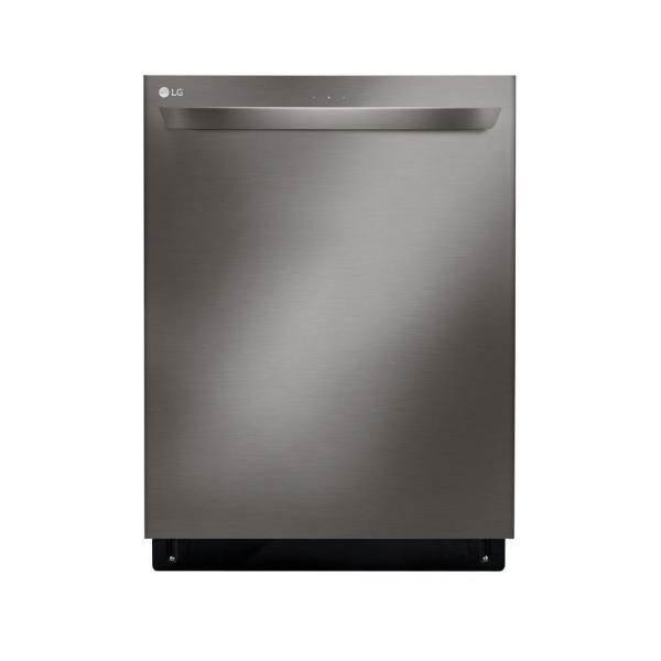 LG Electronics 24 in. Top Control Built-In Tall Tub Smart Dishwasher in Black Stainless Steel w/ QuadWash, SmartThinQ, 3rd Rack, 46 dBA