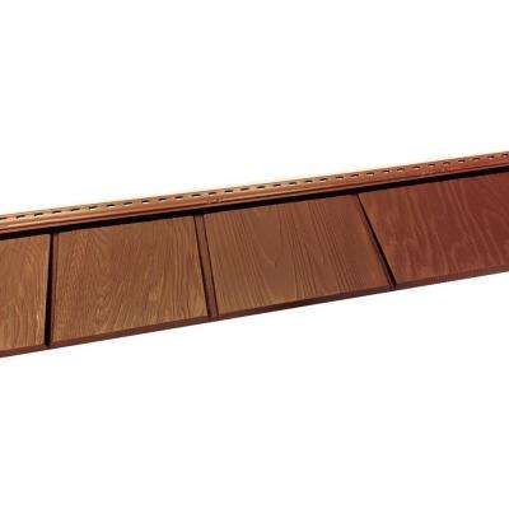 6-1/2 in. x 60-1/2 in. Homestead Red Engineered Rigid PVC Shingle Panel 5 in. Exposure (24 per Box)