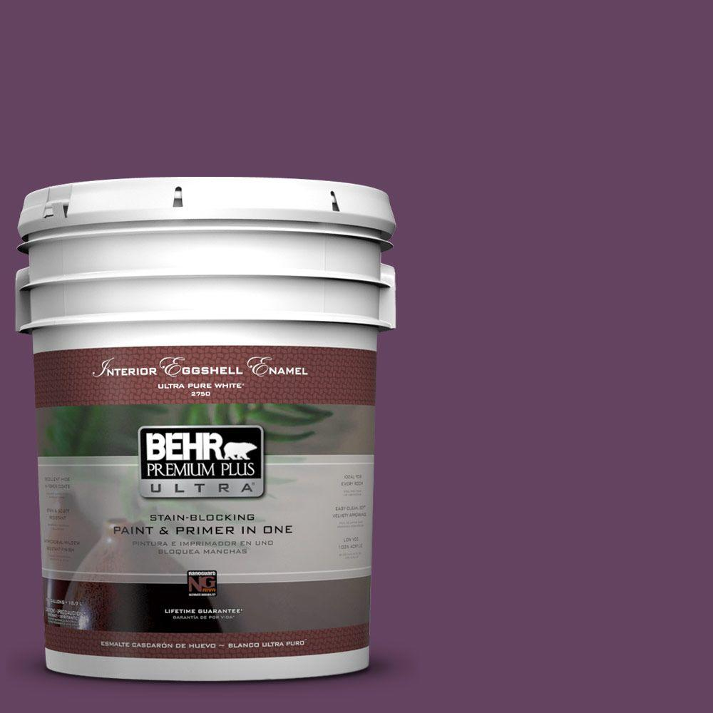 BEHR Premium Plus Ultra 5-gal. #BIC-36 Grape Fizz Eggshell Enamel Interior Paint
