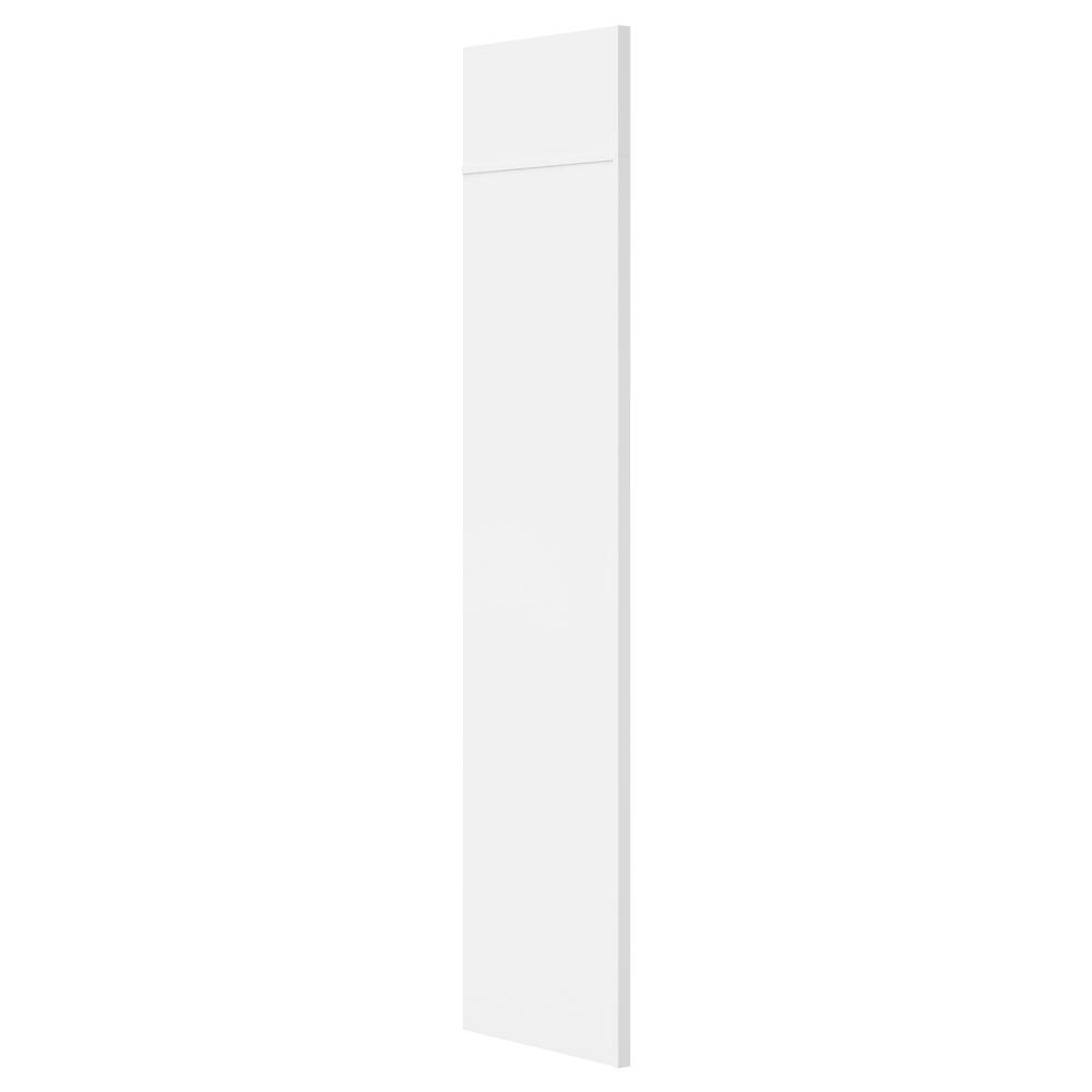 Hampton Bay 0.5x84x24 in. Refrigerator End Panel Kit in Satin White