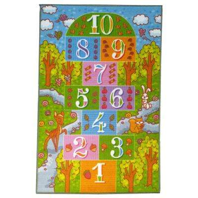 Multi-Color Kids and Children Bedroom Playroom Girls Road Map Educational Learning 8 ft. x 10 ft. Area Rug