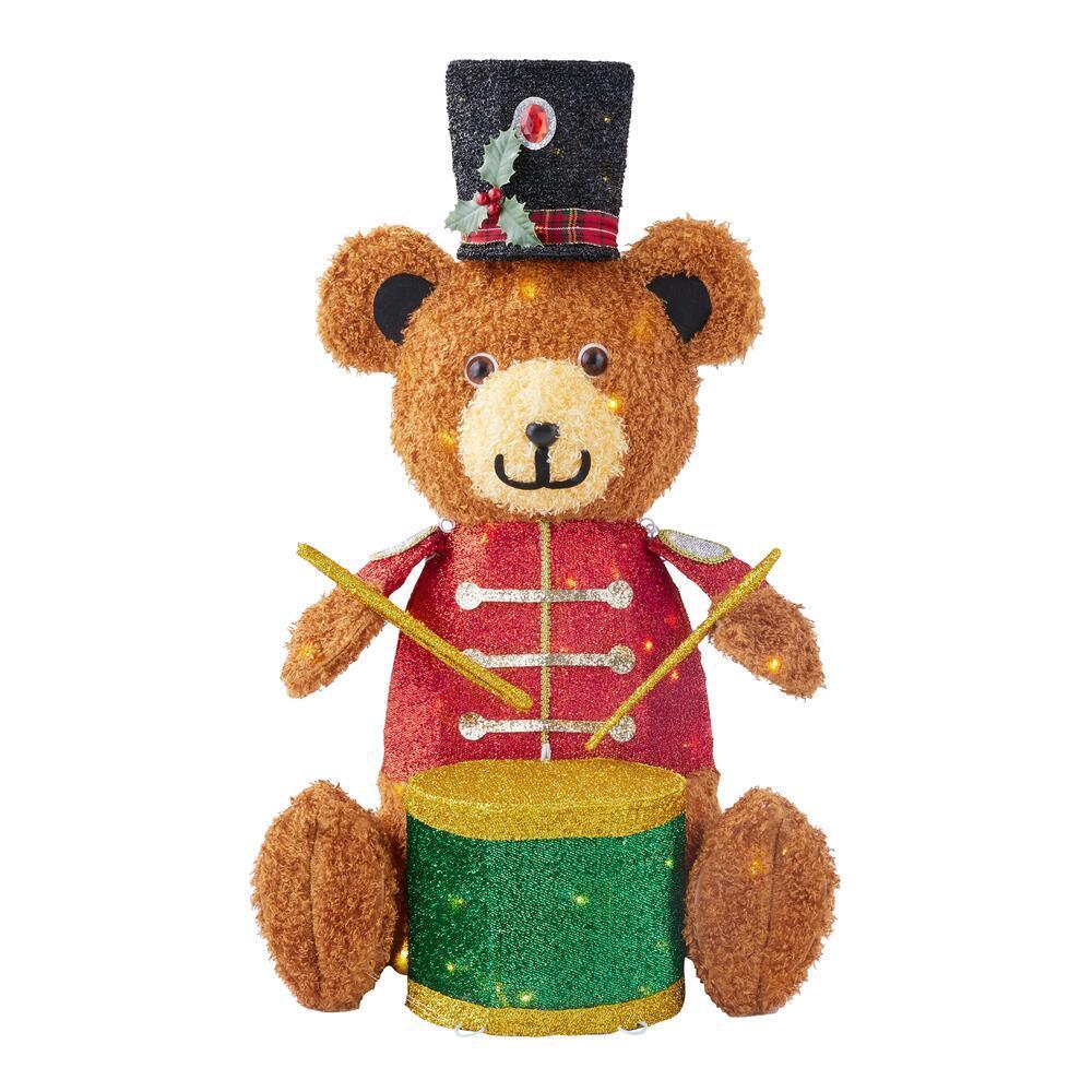 3 ft Yuletide Lane LED Teddy Bear