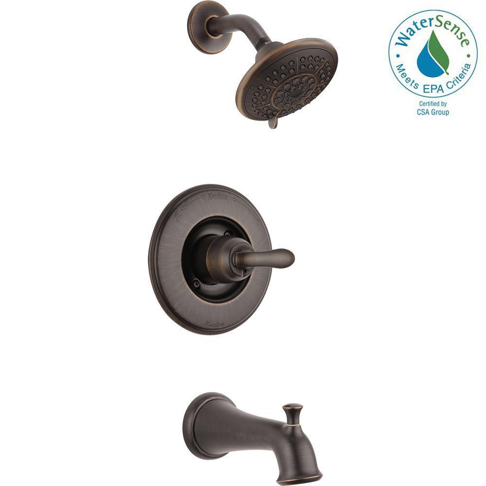 Delta Linden 1-Handle 1-Spray Tub and Shower Faucet Trim Kit in Venetian Bronze (Valve Not Included)
