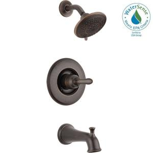 delta leland 1 handle 3 spray tub and shower faucet trim kit in
