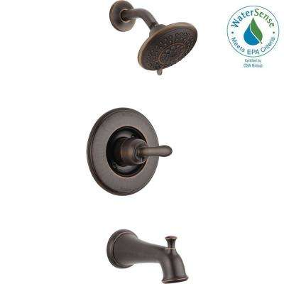 Linden 1-Handle 1-Spray Tub and Shower Faucet Trim Kit in Venetian Bronze (Valve Not Included)