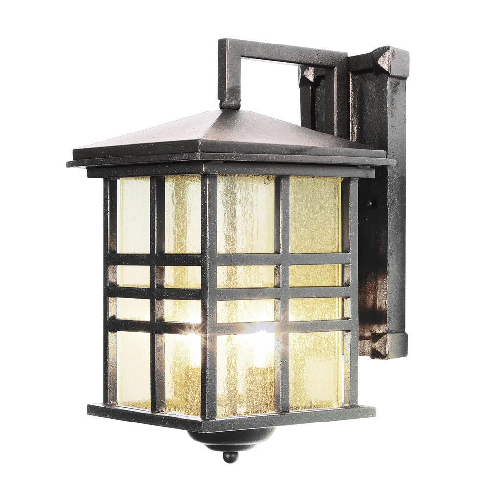 Huntington 2-Light Weathered Bronze Outdoor Wall Mount Lantern