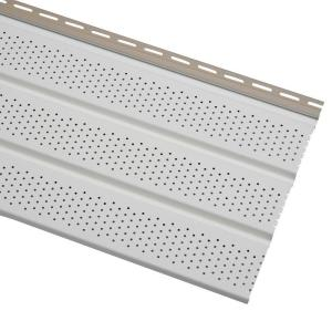 Cellwood Economy Triple 4 In White Vented Vinyl Soffit