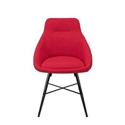 Red Urban Upholstered Side Chair (Set of 2)