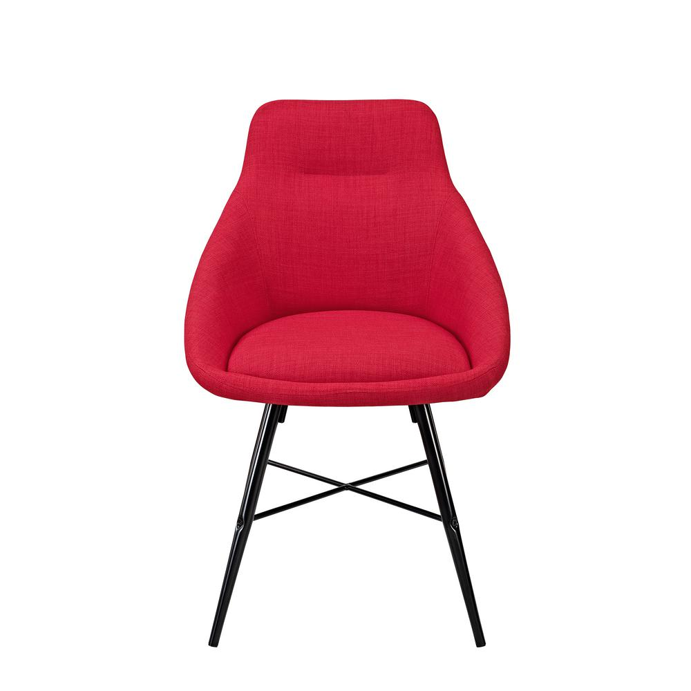 Walker Edison Furniture Company Red Urban Upholstered Side Chair (Set Of 2)