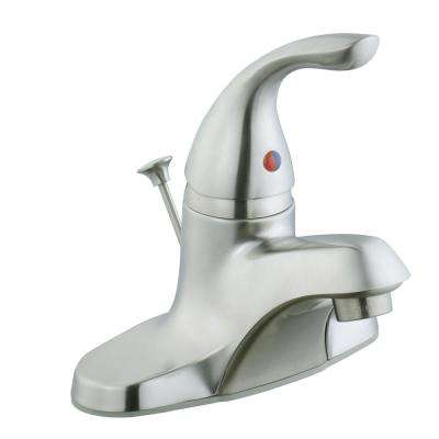 4 in. Centerset 1-Handle Bathroom Faucet in Brushed Nickel