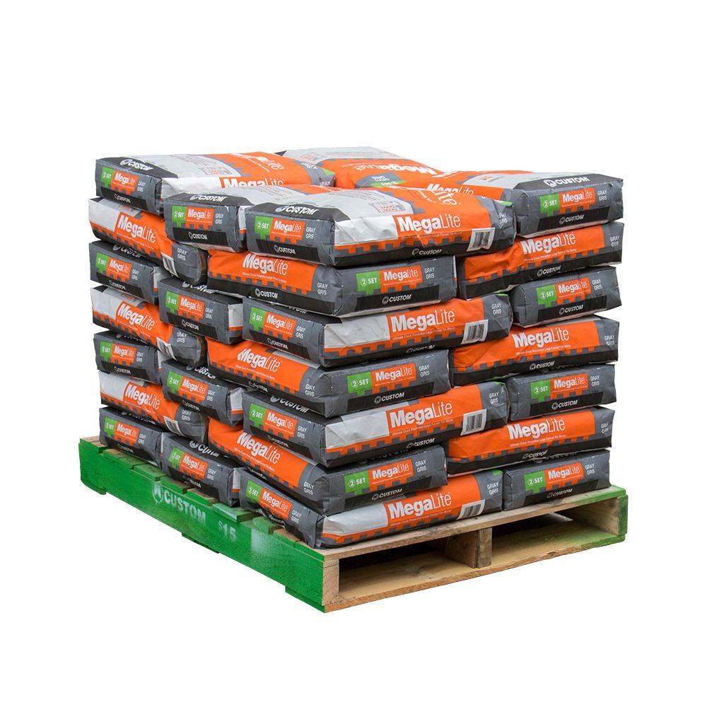 MegaLite Gray 30 lb. Crack Prevention Mortar (35 Bags / 3,500