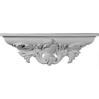 20 in. x 4 in. x 6-3/4 in. Primed Polyurethane Hillsborough Decorative Shelf