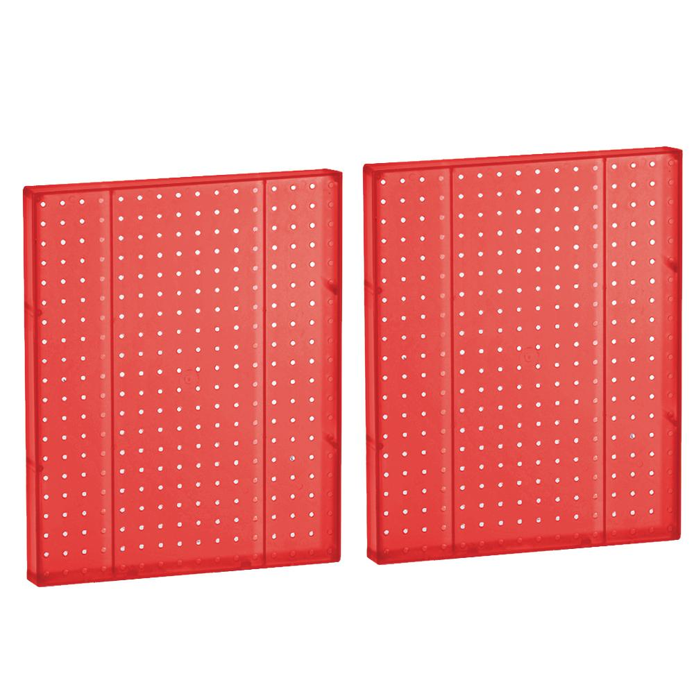 20.25 in. H x 16 in. W Red Styrene Pegboard in One Sided Panel (2-Pieces per Box)