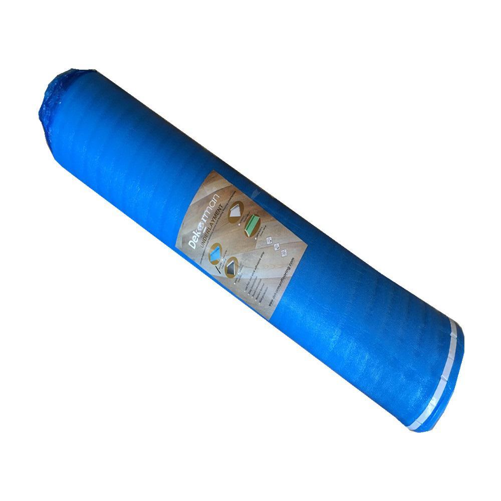 Dekorman 3mm Laminate Flooring Blue Foam Underlayment, 3mm Thick x 3.3 ft. W x 30.5 ft. L (100 sq. ft. / roll)