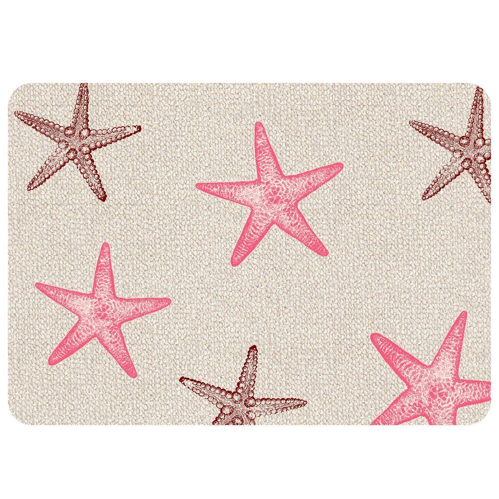 Starfish Hooked Multi 22 in. x 31 in. Premium Comfort Mat