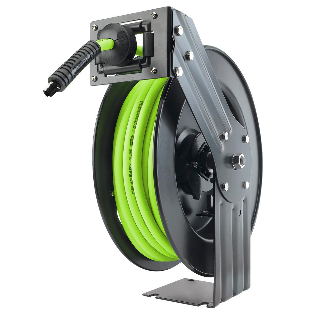 Open Faced 50 ft. Retractable Air Hose Reel with 3/8 in.