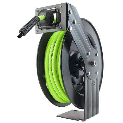 Open Faced 50 ft. Retractable Air Hose Reel with 3/8 in. Fittings