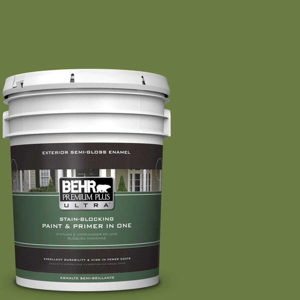 BEHR Premium Plus Ultra 5-gal. #M350-7 Healing Plant Semi-Gloss Enamel Exterior Paint