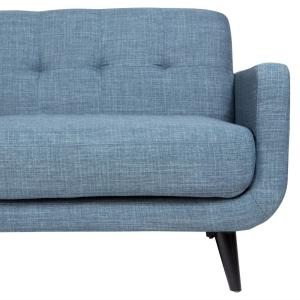 Outstanding Casper Mid Century Modern Button Tufted Sofa In Light Blue Pabps2019 Chair Design Images Pabps2019Com