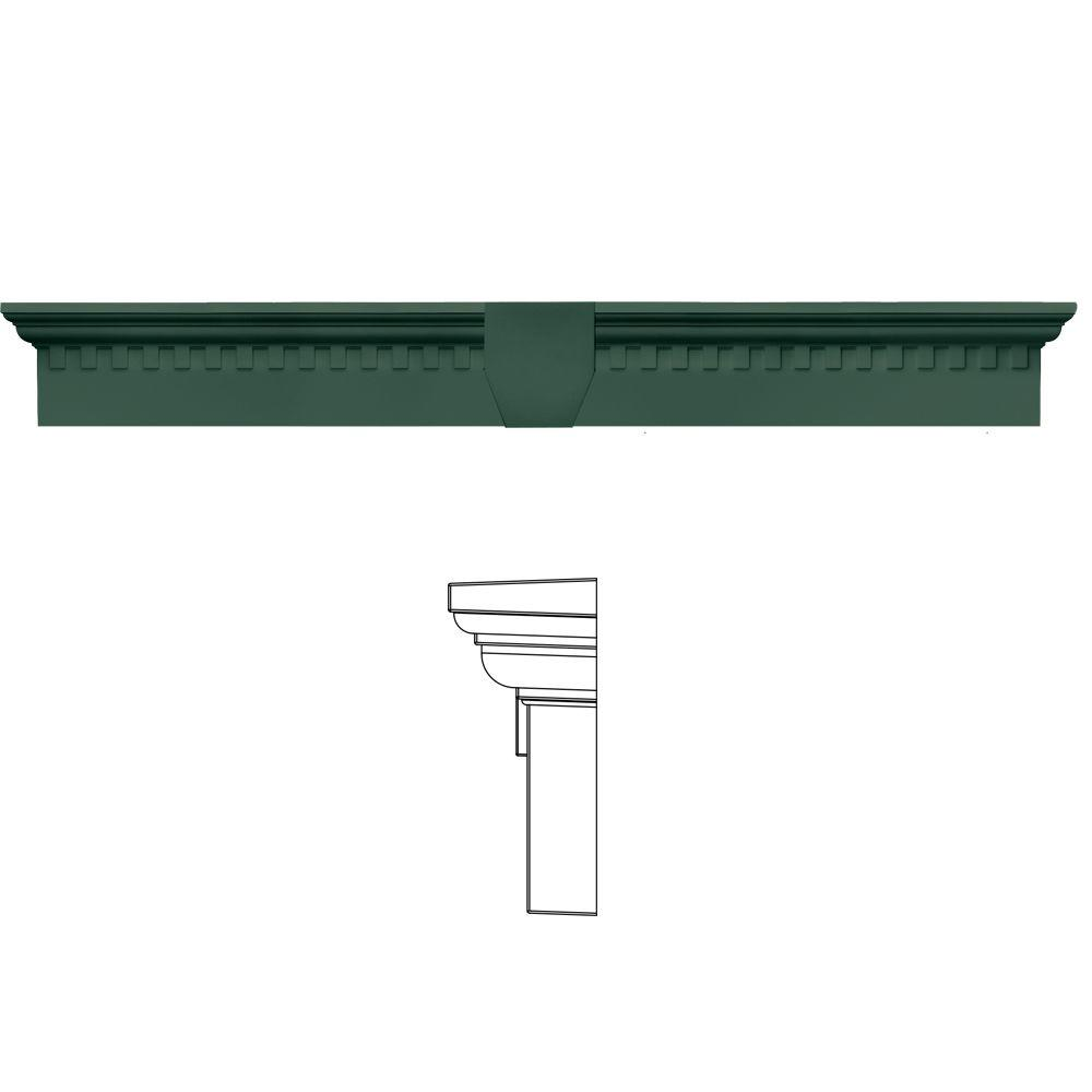 6 in. x 43 5/8 in. Classic Dentil Window Header with