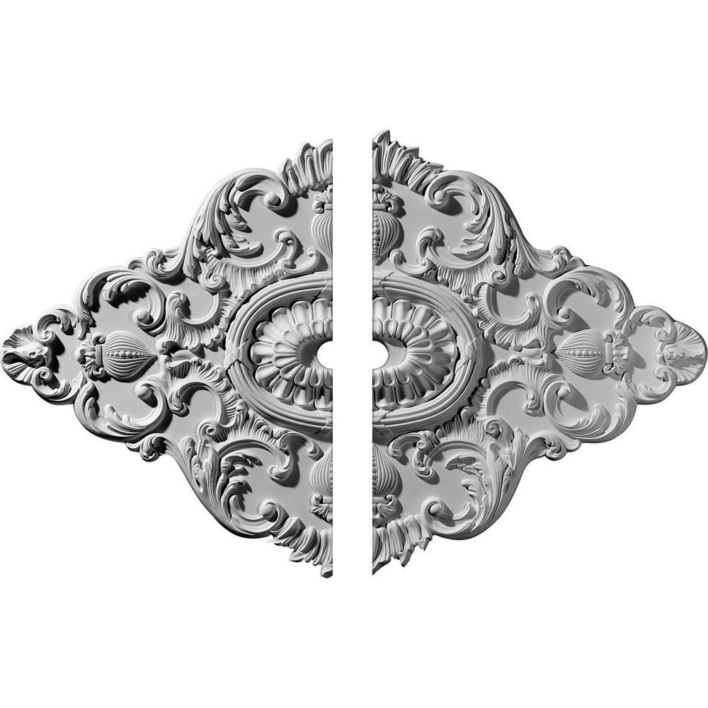 42-3/4 in. W x 28-7/8 in. H x 1 in. P Ashford Ceiling Medallion (2-Piece)