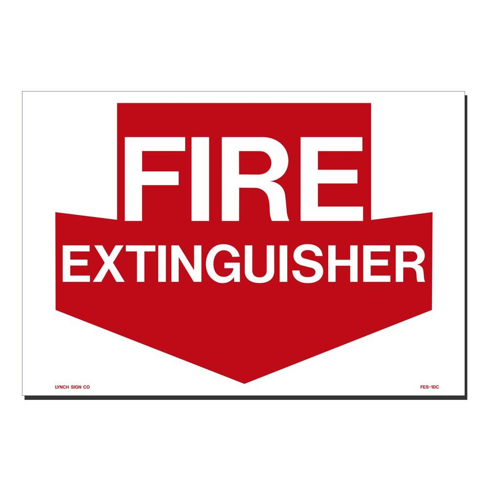 14 in. x 10 in. Decal Red on White Sticker Fire