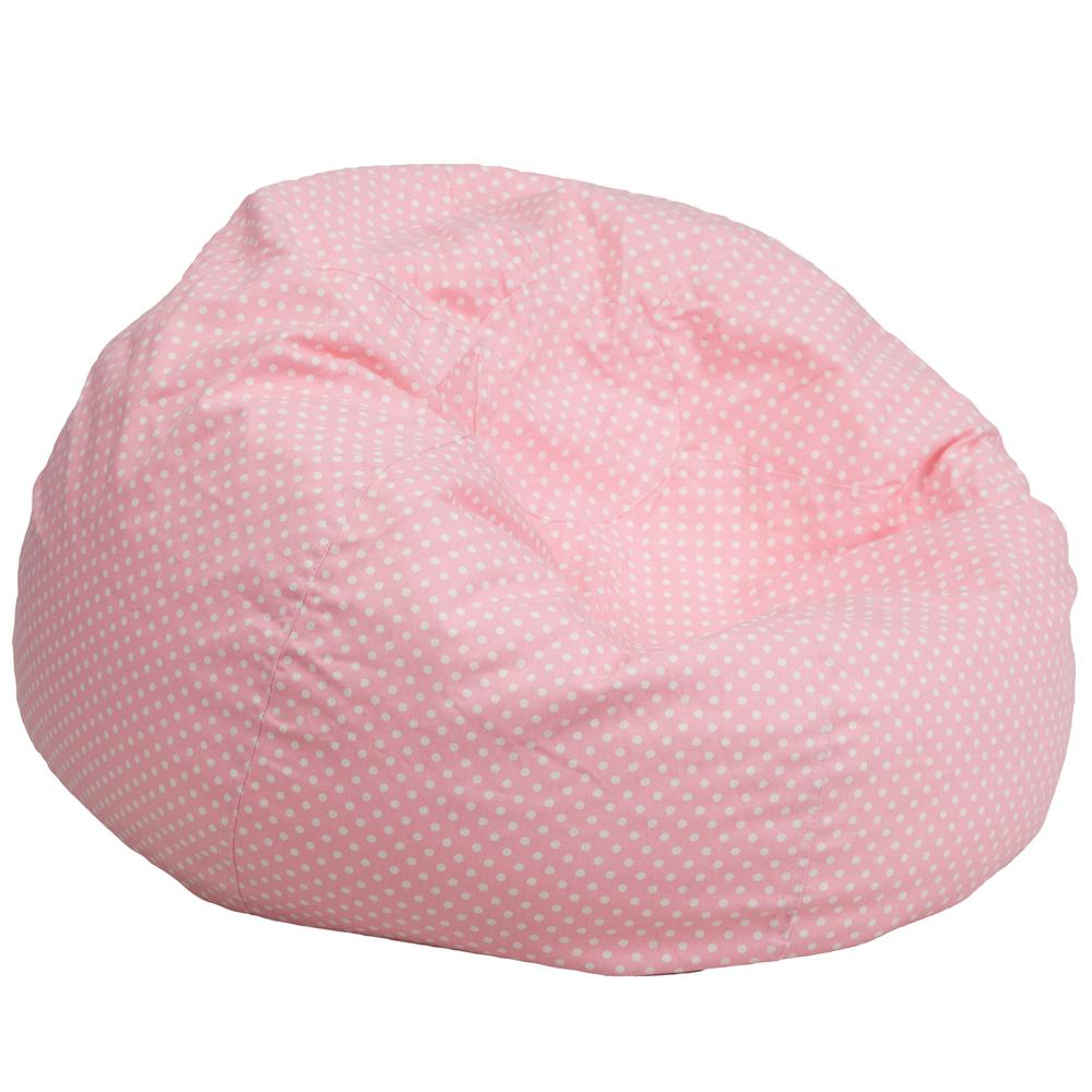 This Review Is FromOversized Light Pink Dot Bean Bag Chair