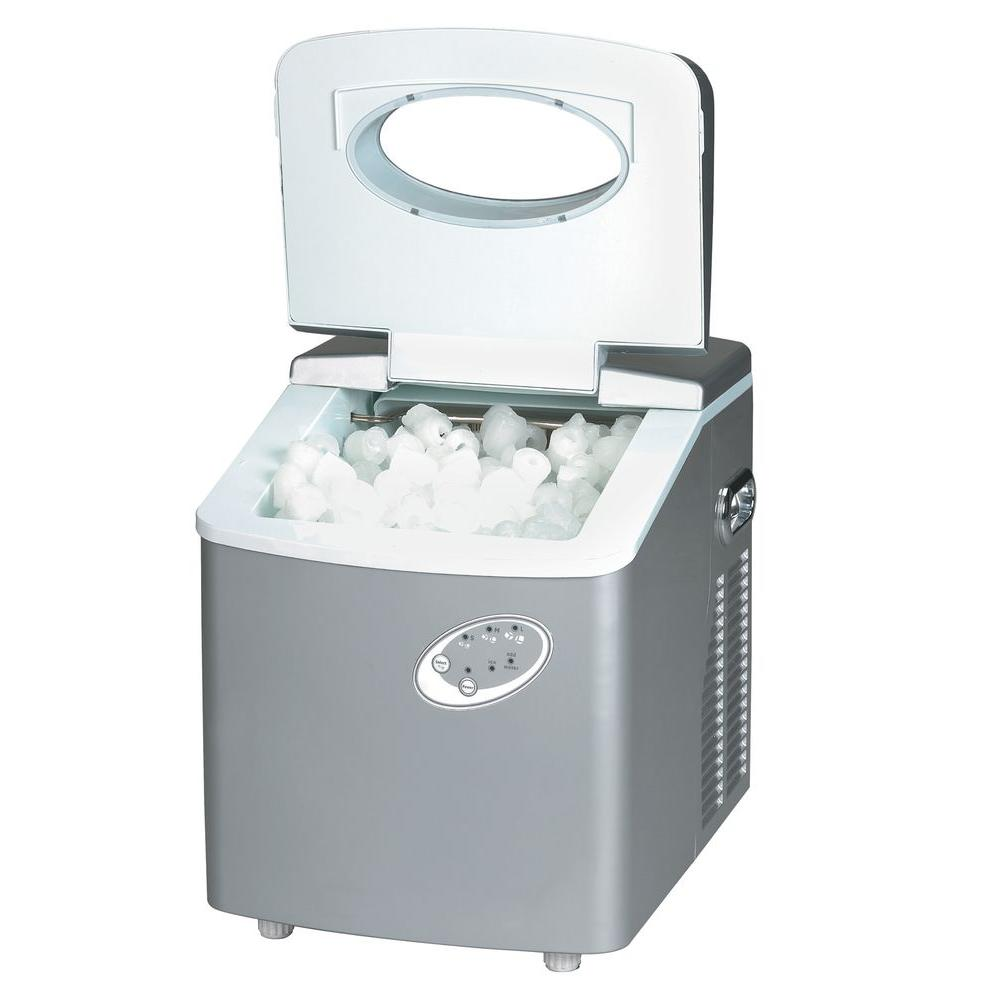 SPT 35 lb. Portable Ice Maker in Platinum