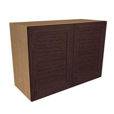Ready to Assemble 36x21x12 in. Livorno Wall Cabinet with 2 Soft Close Doors in Espresso