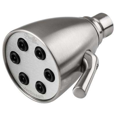 JetStream 6-Spray Shower Head with Metallic Construction and Quick Adjusting Jets in Brushed Satin Nickel