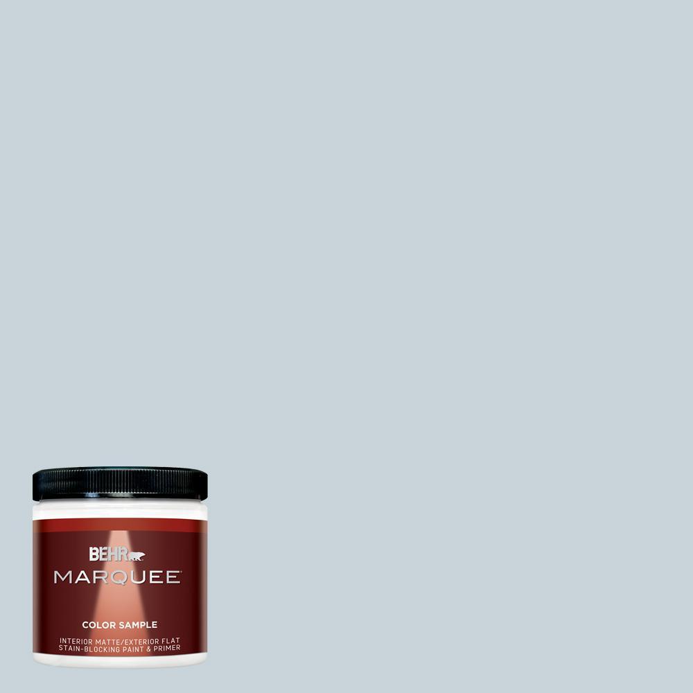 BEHR MARQUEE 8 oz. #N480-1 Light Drizzle Matte Interior paint color. #lightdrizzle #behrlightdrizzle #paintcolors
