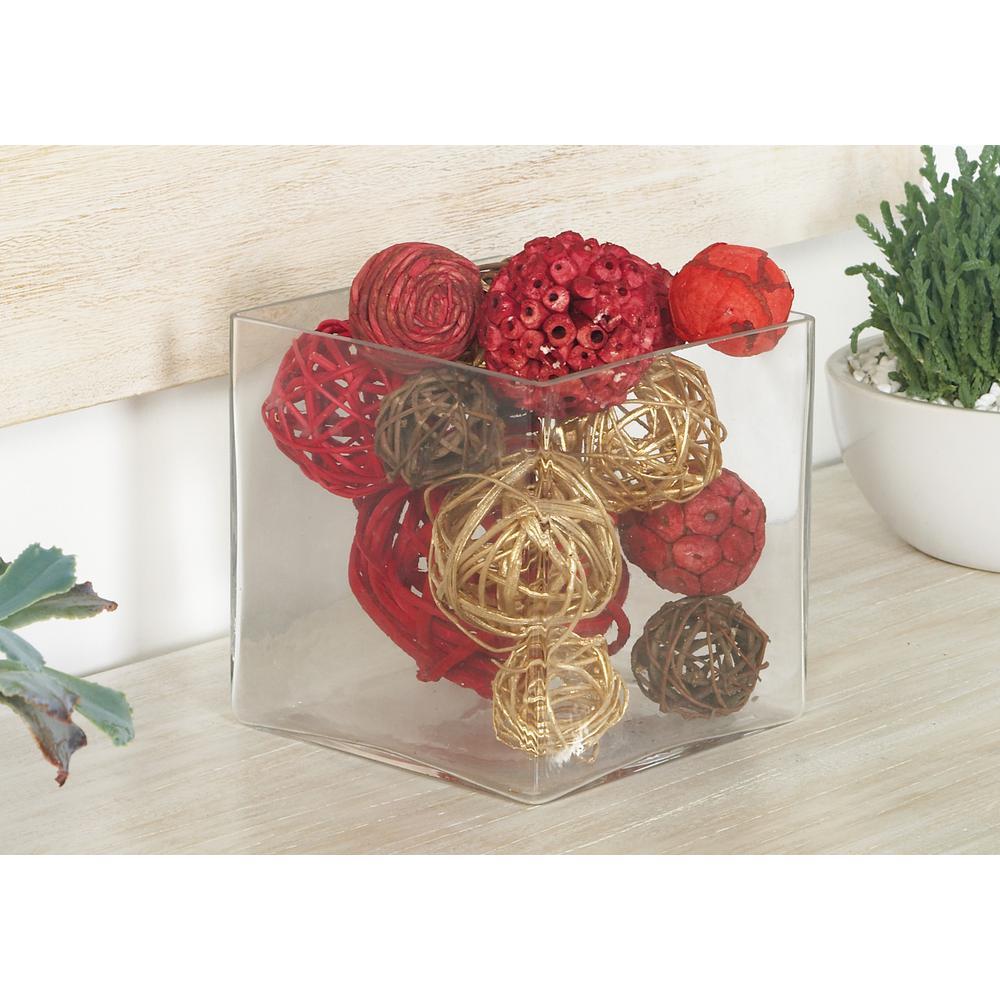 Multi Dried Plant Fiber Boxed Decorative Balls (Set of 2)