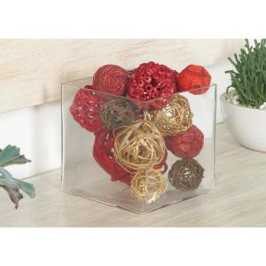 Multi Dried Plant Fiber Boxed Decorative Balls (Set of 2) from Plant Accessories