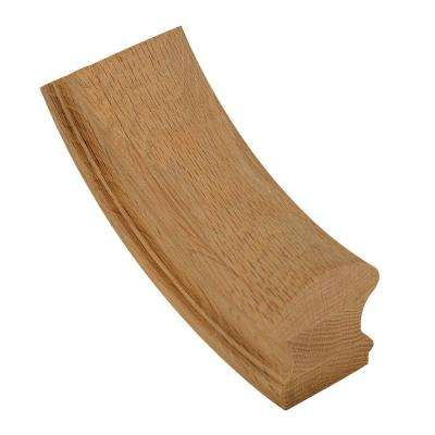 7712 Unfinished Red Oak 60° Up-Easing Stair Hand Rail Fitting